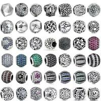 European Charms Full Crystal Figure Beads For 925 Sterling Silver Bracelets