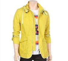 Codes Mens Lightweight Detachable Hood Long Jacket Windbreaker Mustard Size M.