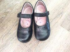 Startrite Girls Black Leather  Riptape School Shoes 9.5G