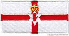 NORTHERN IRELAND FLAG embroidered iron-on PATCH IRISH UK UNITED KINGDOM IRISH