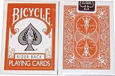 Carte da gioco BICYCLE RIDER BACK,orange,poker size