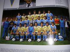 FOOTBALL COUPURE LIVRE PHOTO COULEUR 20x10 D2 GrA FC GUEUGNON 1989/1990