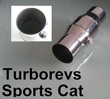 "FORD STAINLESS STEEL 200 CELL 2"" HIGH FLOW SPORTS EXHAUST CAT CATALYTIC CONVETER"