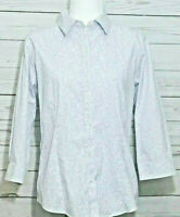 L.L. Bean Women's Cotton Shirt Button Down Wrinkle Resistant Floral Sz. Medium