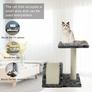 Cat Trees Scratching Post Scratcher Tower Condo House Furniture Wood Bed Pet Toy