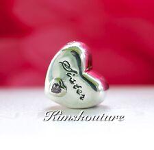 Authentic PANDORA Sisters Heart Charm 791946PCZ