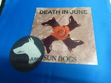 Death in June, Sun dogs,Rose Cloud of Holocaust ,7 inch single, mint with sticke