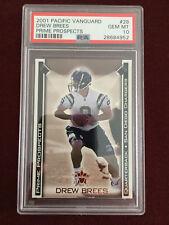 Drew Brees 2001 Pacific Vanguard Prime Prospects Rookie Card RC PSA 10 Gem Mt