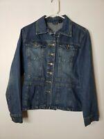 Northcrest Women's Denim Blue Jean Button Front Jacket Size Small