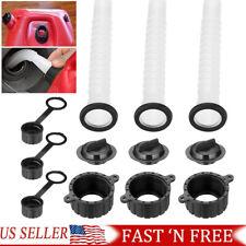 Set Of 3 Gas Can Spout Parts Kit Replacement Rubbermade Gasket Vent Cap Fuel Jug