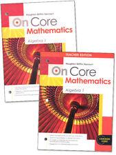 On Core Mathematics Algebra 1 Math Curriculum Homeschool 9 Teacher 9th Grade Set
