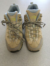 The North Face beige and gray suede, 5 in tall hiking boots. Women's 9.5