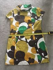 Boden Linen Dress 18 R Retro Print With Pockets