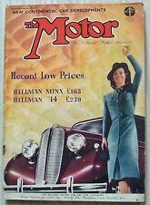 The MOTOR Magazine 29 Nov 1938 HILLMAN MINX & DELAHAYE COMPETITION MODEL Tested