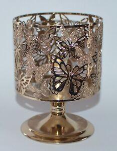 Bath & Body Works Gold Schmetterlinge Podest Groß Kerzenständer Ärmel 429ml