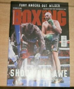 Boxing News magazine 14th Oct 2021 Fury knocks out Wilder Shock and Awe in Vegas