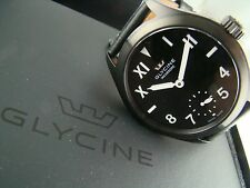 NEW Glycine Incursore Hand-Wound, GL098 PVD Case, Leather strap