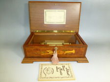 Rare Vintage Reuge Music Box 72 / 3 Beethoven Edition Burled Walnut Wooden Case