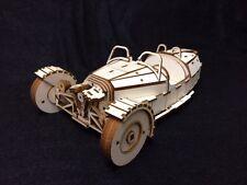 Laser Cut Wooden Morgan 3 Wheel Car /  3D Model/Puzzle Kit