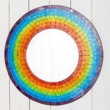 Rotondo ARCOBALENO Mosaico SPECCHIO Da parete 60cm da parete Arredo Casa