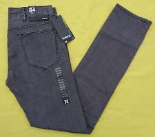 NEW $69 Mens HURLEY 84 Straight SLIM Skinny Fit Denim GREY Jeans 29 X 32 NWT
