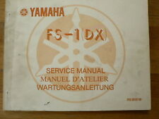 YAMAHA SERVICE MANUAL FS-1 DX MOPED MOFA BROMFIETS 1977 WARTUNGSANLEITUNG