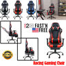 Gaming Chair Office Computer Desk Chair Swivel Racing Highback Recliner Footrest