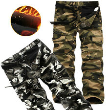 NWT Men's Fleeced Thick Winter Warm Camouflage Army Cargo Combat Pants Trousers