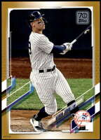 Aaron Judge 2021 Topps 5x7 Gold #99 /10 Yankees