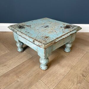 Antique Table Small End Side Tables Original Paint Patina Wooden Plant Display