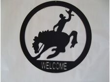 NEW Steel Silhouette Bucking Horse tin metal sign