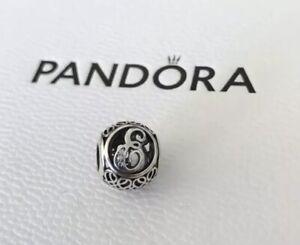 Pandora Vintage Alphabet Letter A-Z Initial Bracelet Charm Sterling Silver