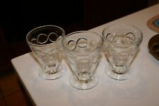 VINTAGE Depression Glass  SET OF 4 PEDESTAL BOTTOM