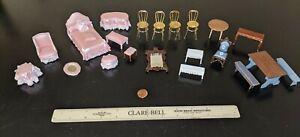 Vintage Assorted 1:24 Dollhouse Miniature Furniture Lot, NEW