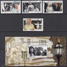 SOUTH GEORGIA : 1999 Queen Mother's Century set+Min.Sheet SG289-92 +MS293 MNH