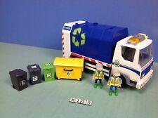 (K199) playmobil camion poubelle ref 4129