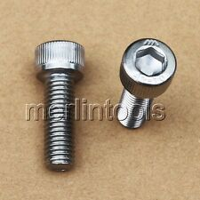 2 Pcs M10 x 1.5 (pitch) x 65mm Stainless Steel Allen Hex Socket Head Cap Screws