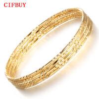 CIFBUY Armbänder Frauen Luxus Gold Farbe Kupfer Armreifen Mode Hochzeit Schmuck