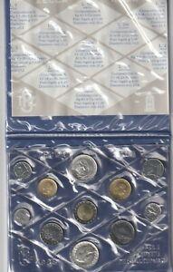 ITALIA 1986 Divisionale 11 monete FDC, Lire 500 x 2 in argento