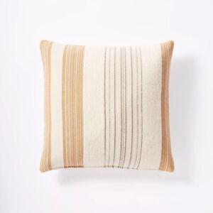 Woven Textured Stripe Throw Pillow Threshold Target Orange Studio McGee 20 x 20