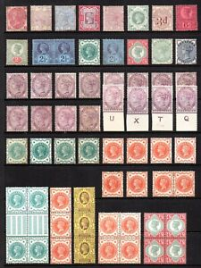 GB QV Collection of 62 Stamps Unmounted Mint/Mint Hinged/MNG Huge Cat