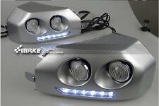2x FOR Toyota FJ CRUISER 2007-2014 led daytime running light fog lamp cover DRL