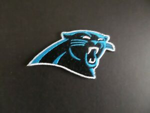 """CAROLINA PANTHERS"""" TEAL & BLACK  NFL Embroidered 2 x 3-3/8 Iron On Patch"""