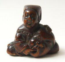 Netsuke en bois Japon 19e siècle Japan 19th century statuette
