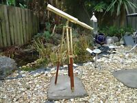 Brass Nautical Telescope & Stand For Table Antique Style A Very Nice Collectable