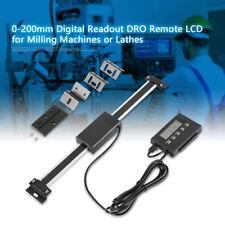 0-200mm Digital LCD Präzise Linearskala Readout DRO Kit für Dreh- / Fräsmaschine