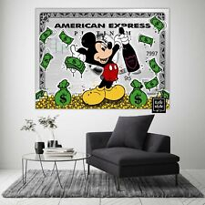 More details for mickey mouse x american express (poster print) alec monopoly - pop wall art
