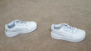 Boys,Girls Puma trainers size 7 infant,kids,VGC,white&light grey,shoes,EUR 24