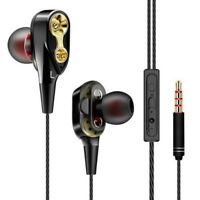 3.5mm w/ Mic Super Bass Music In ear Stereo Headphone Headset Earphone Earbuds