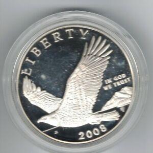 "2008 Silver Bald Eagle /""Freedom/"" 1oz Proof Commemorative Coin w//OGP /& COA"